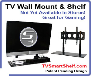 tv wall mount shelf for gaming systems