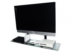 tv wall mount shelf with components