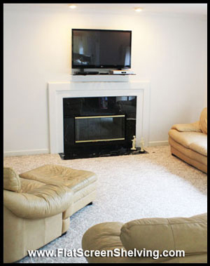 hoome theater installation tv smart shelf